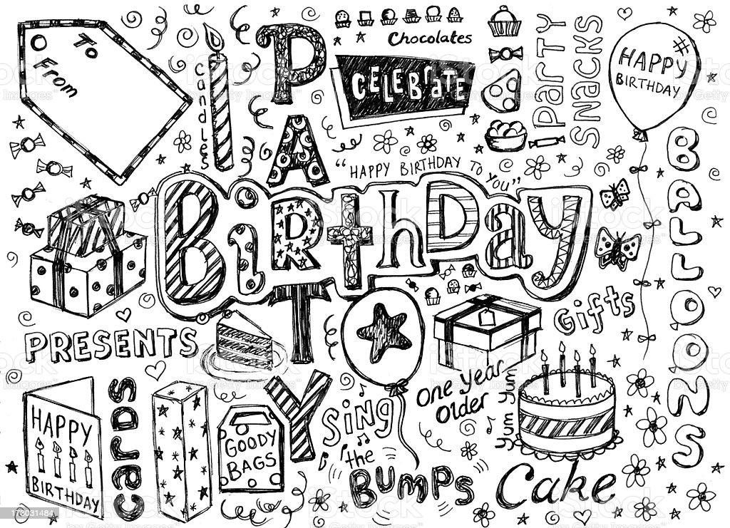 Geburtstag und Kritzeleien – Foto