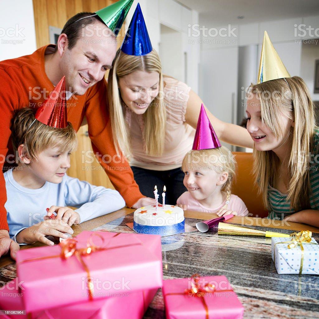birthday excitement royalty-free stock photo