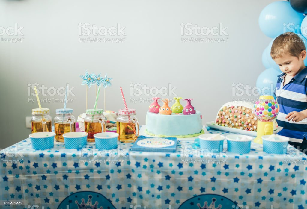 Birthday food stock photo