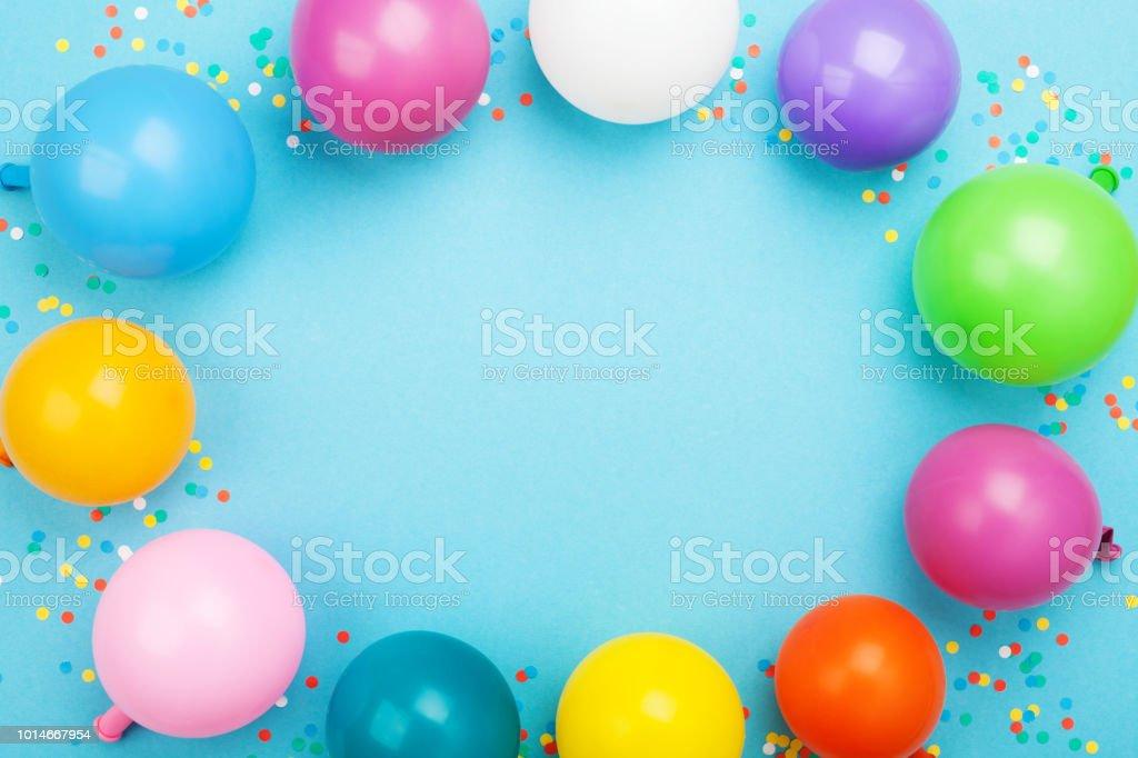Lanniversaire Cadre Photo De Droit Ballons Libre Et Colorés WE9eDHI2bY