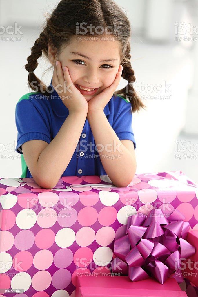 Birthday gift royalty-free stock photo