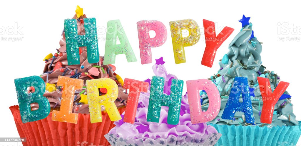 Remarkable Birthday Greetings On Delicious Cakes Background Stock Photo Funny Birthday Cards Online Elaedamsfinfo