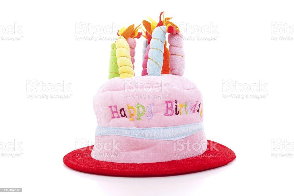 Birthday hat cake royalty-free stock photo