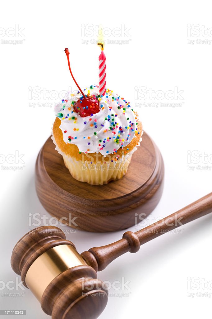 Birthday Lawyer Judge Royalty Free Stock Photo