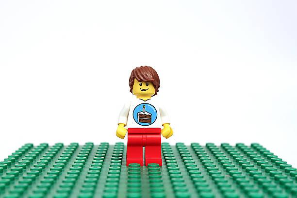 Birthday Lego Guy stock photo