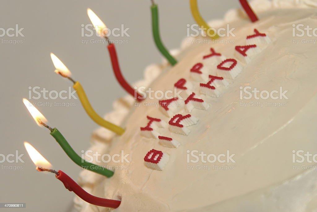 Birthday on an angle stock photo