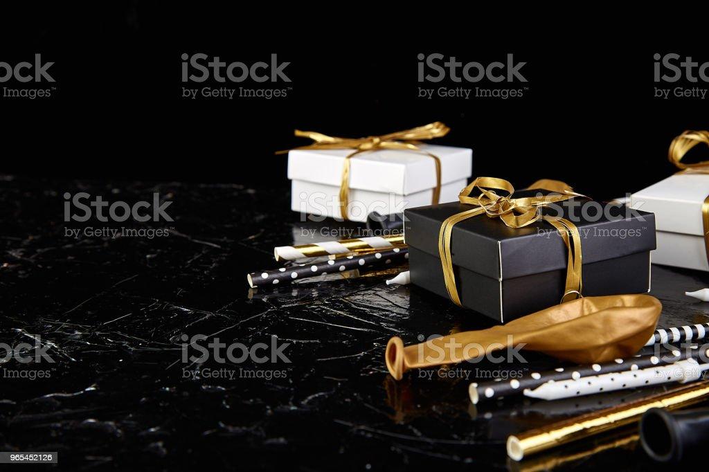 Birthday or Party accessories. zbiór zdjęć royalty-free
