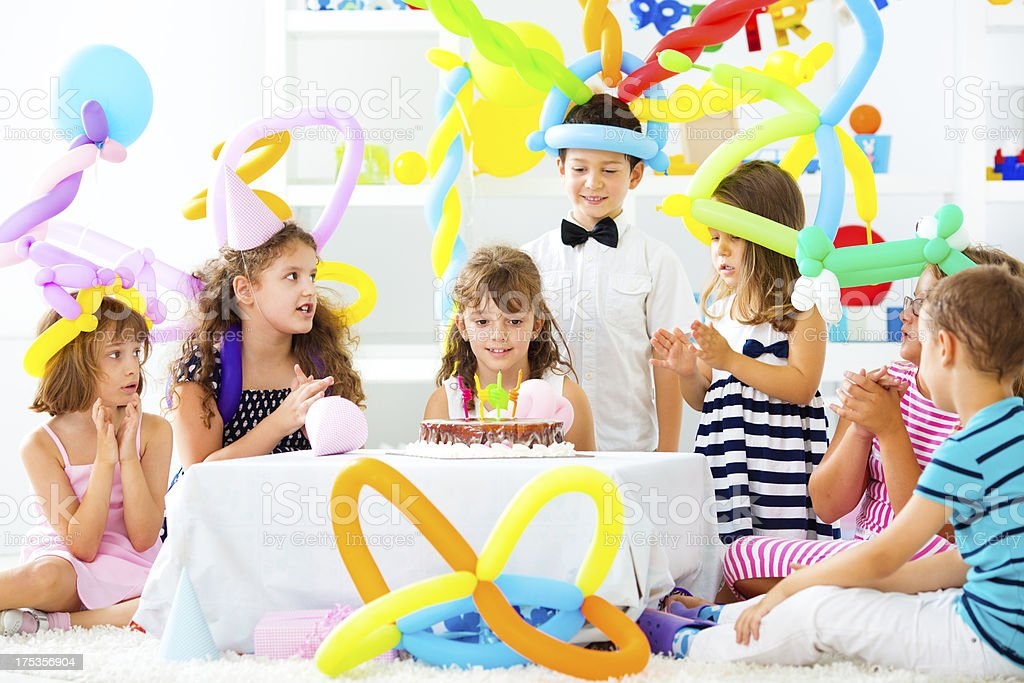 Birthday Party At Home. stock photo