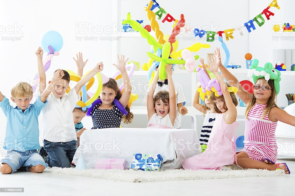 Birthday Party At Home. royalty-free stock photo