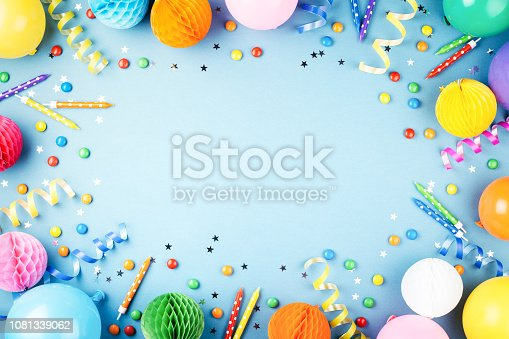 istock Birthday party background. 1081339062