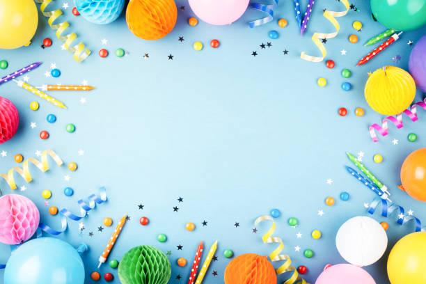 fondo de la fiesta de cumpleaños. - cumpleaños fotografías e imágenes de stock