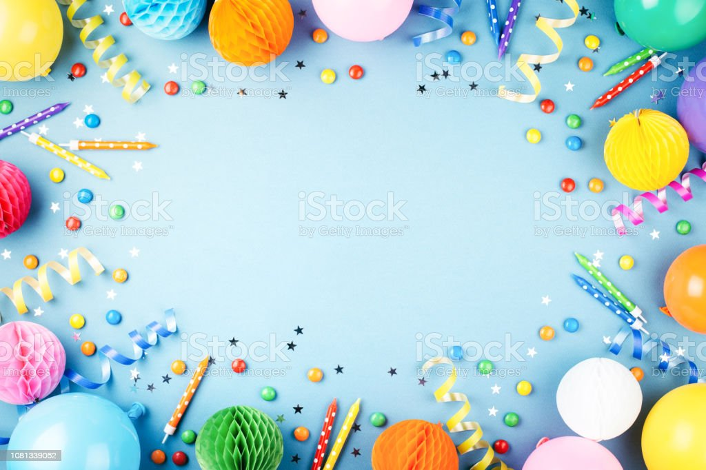 Birthday party background. stock photo
