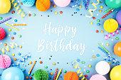 istock Birthday party background. 1082089580