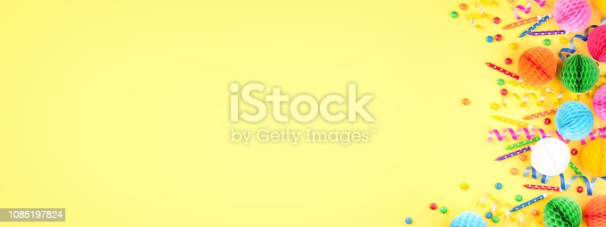 istock Birthday party background. 1085197824