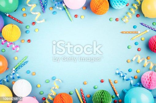 istock Birthday party background. 1094826810