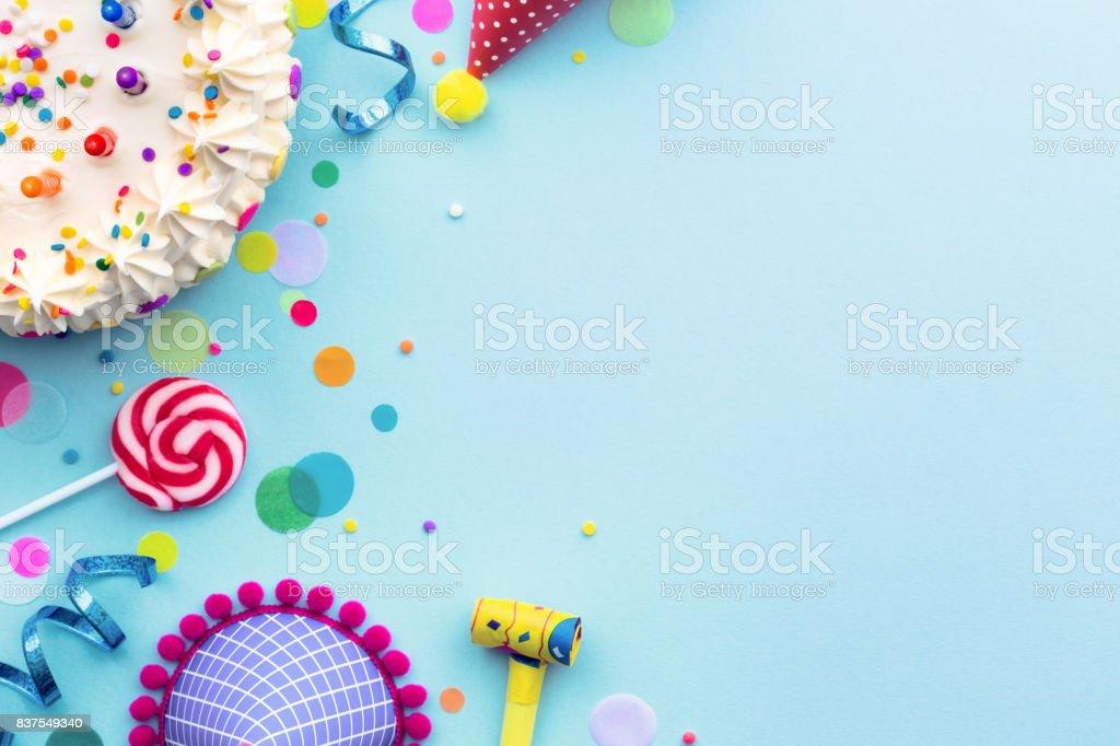 Birthday party background - fotografia de stock
