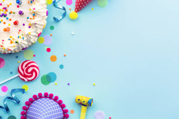 Birthday party background stock photo