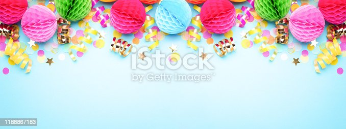 1093222958istockphoto Birthday party banner. 1188867183