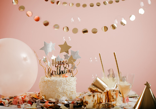 istock Birthday party for cute child 1173520152