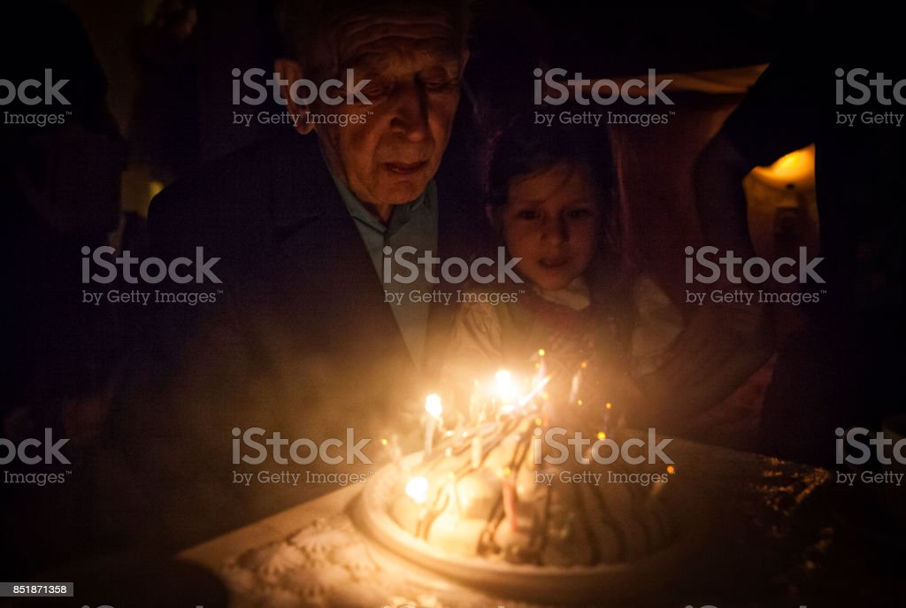 Birthday party for Great grandparent stock photo