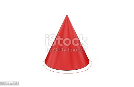 1135969446 istock photo Birthday party hat for mock up template on isolated white background, ready for design presentation, 3d illustration 1167972012