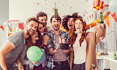 istock Birthday party in the office 518867858