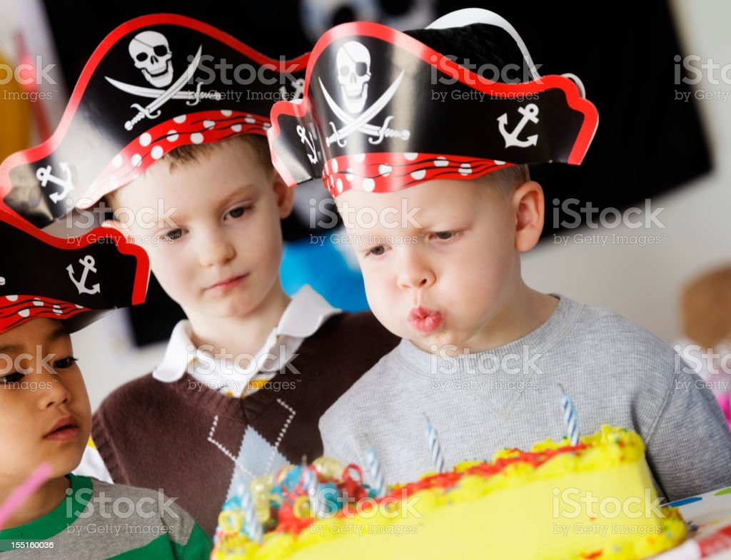 Birthday Party Of A 5 Year Old Boy Royalty Free Stock Photo