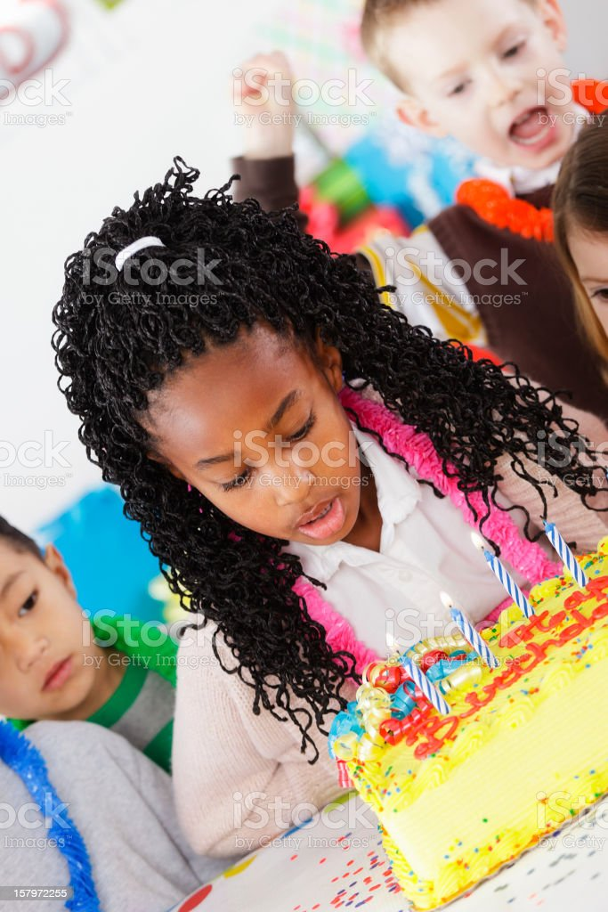 Birthday Party of a Little Girl stock photo