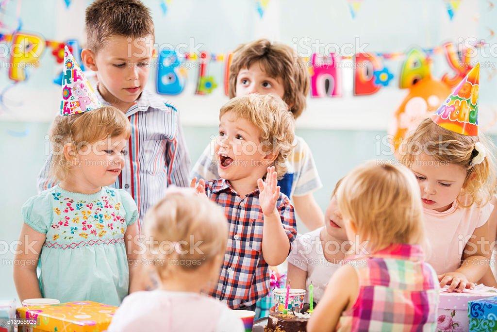 Birthday party. stock photo