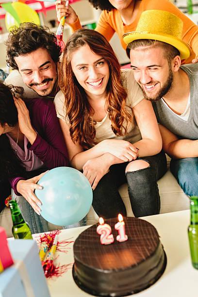 21 Birthday Party stock photo