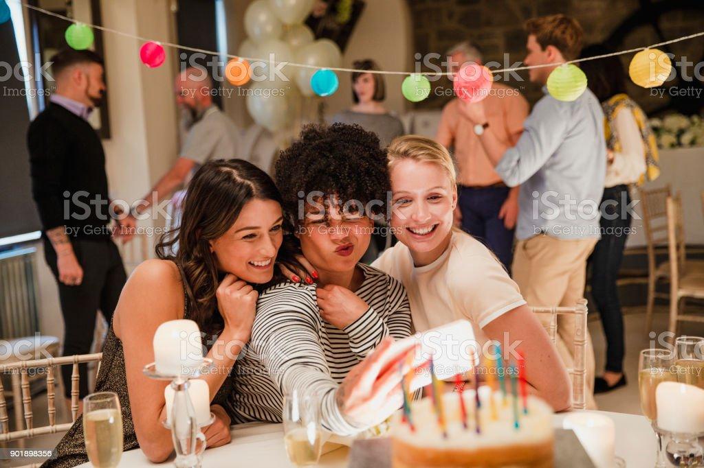 Birthday Party Selfie stock photo