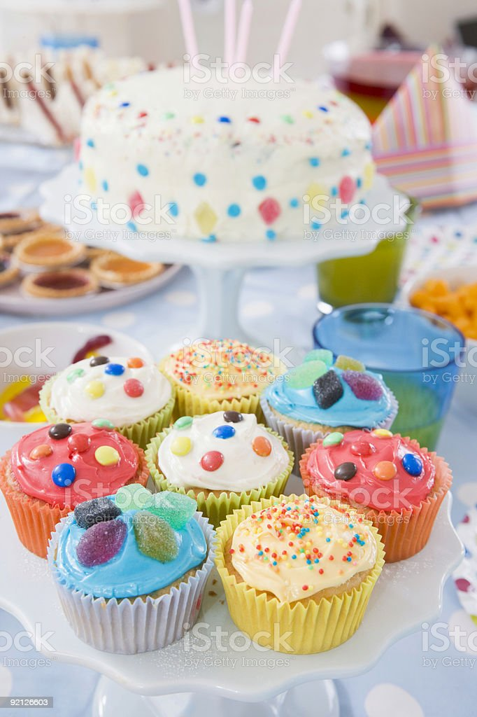 Birthday Cake Candle Cupcake Party Table Setting