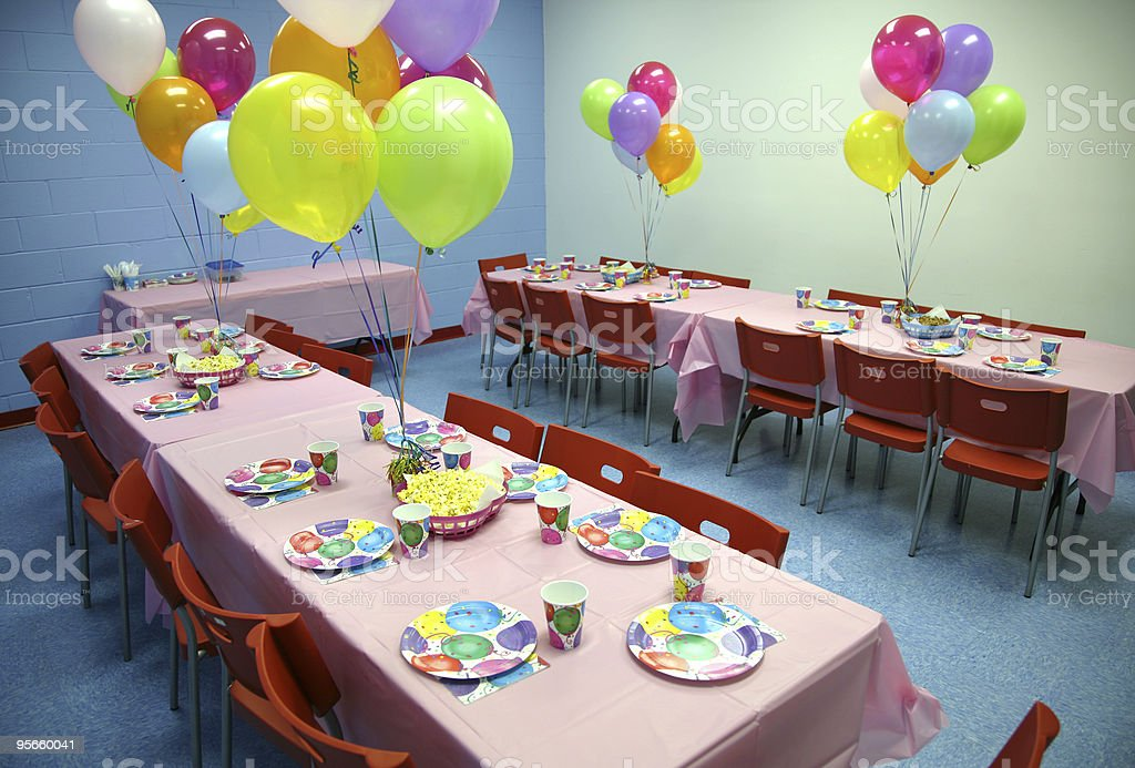 Birthday Party Tables royalty-free stock photo