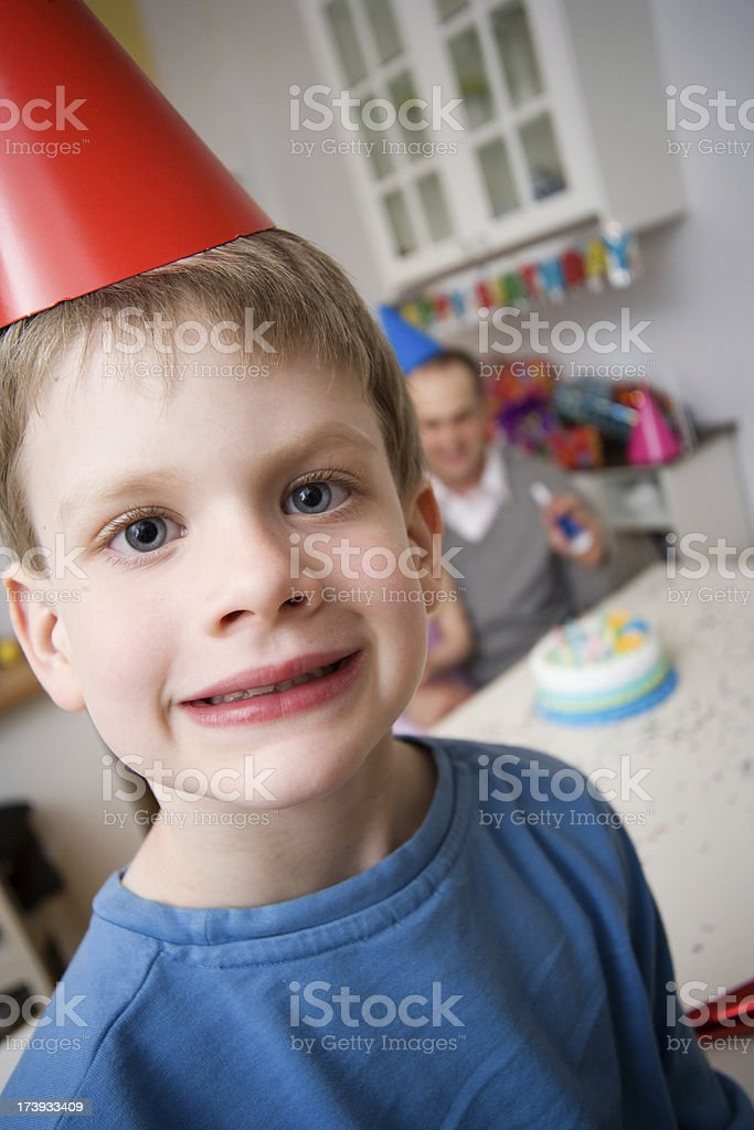 Birthday Party with Child Up Close royalty-free stock photo