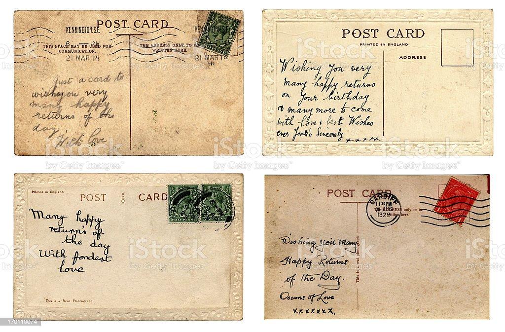 Birthday postcards royalty-free stock photo
