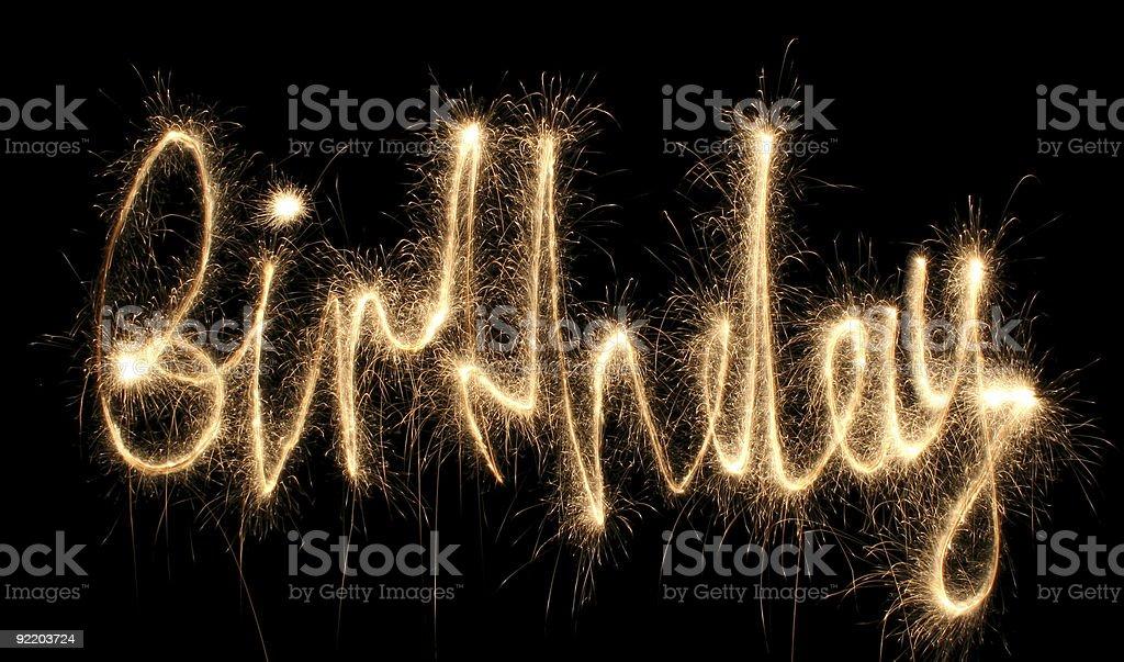 birthday sparkler royalty-free stock photo
