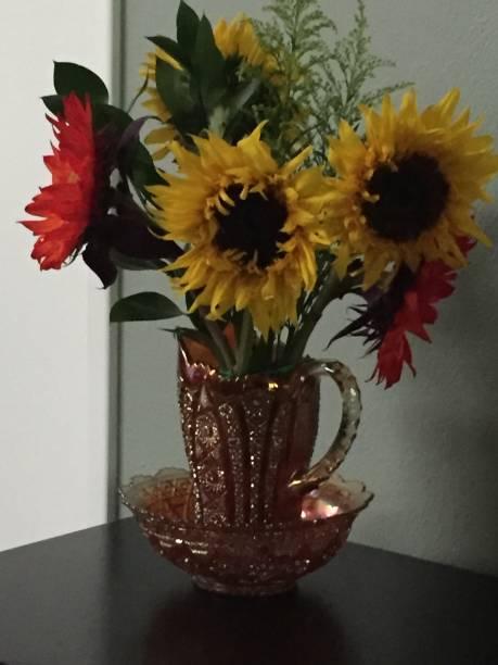 Birthday Sunflowers stock photo