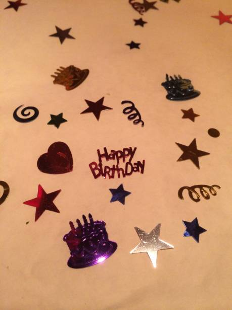 Birthday Table Decorations stock photo
