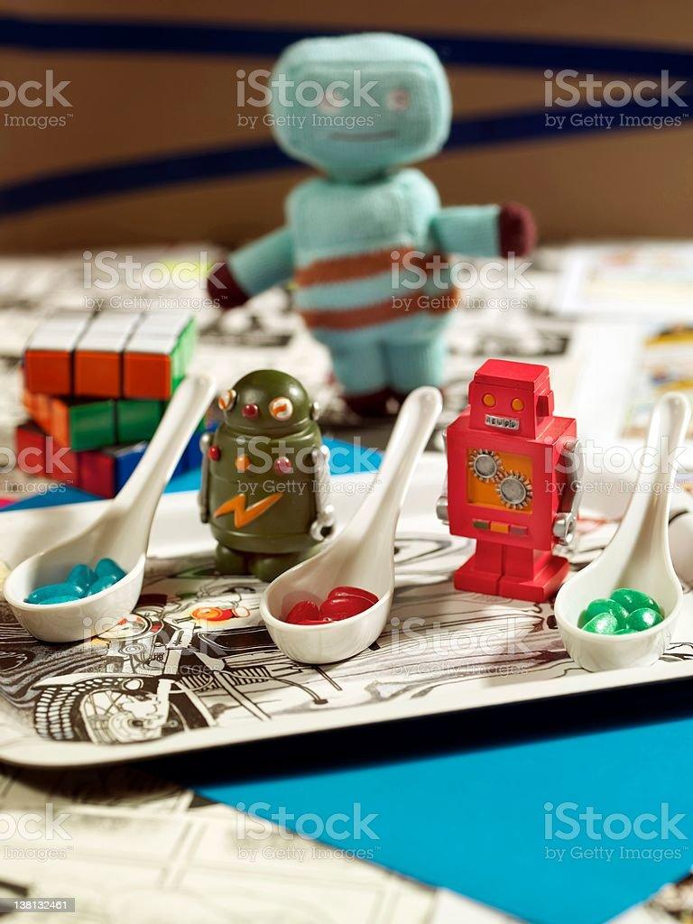 Birthday table royalty-free stock photo