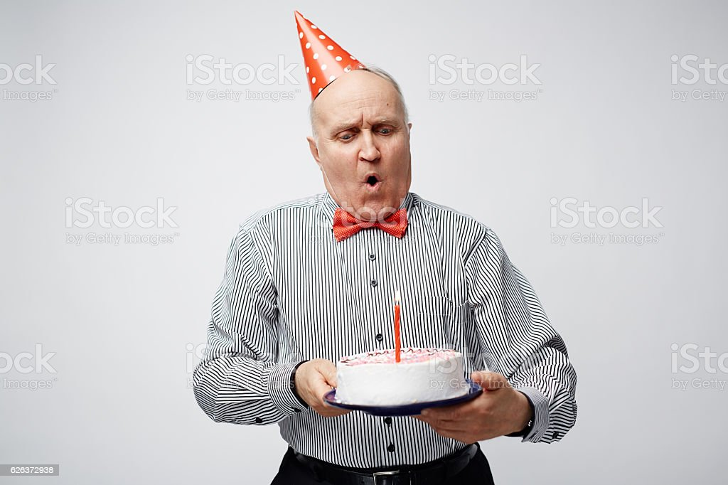 Birthday wish stock photo