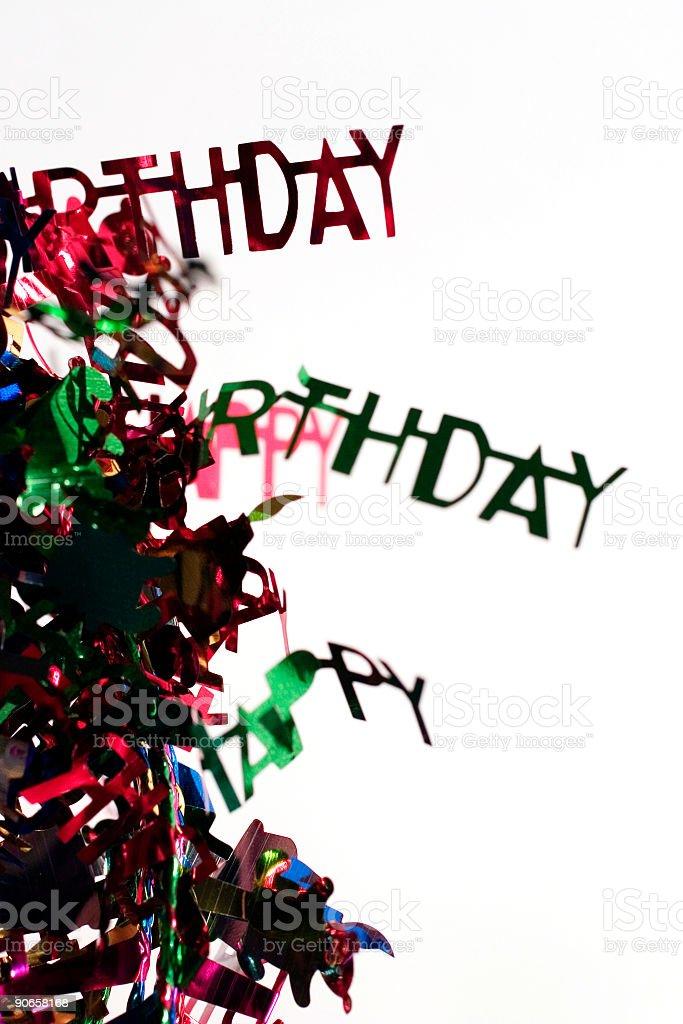 Birthday Words royalty-free stock photo