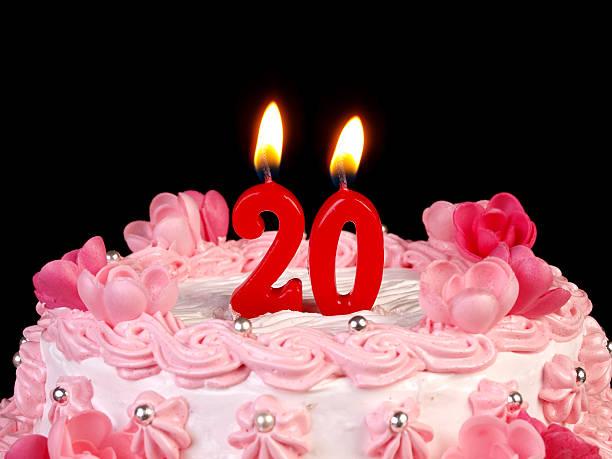 Birthday-anniversary cake Nr. 20 stock photo