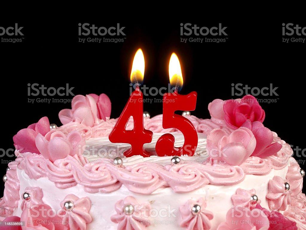 Birthday-anniversary cake Nr. 45 stock photo