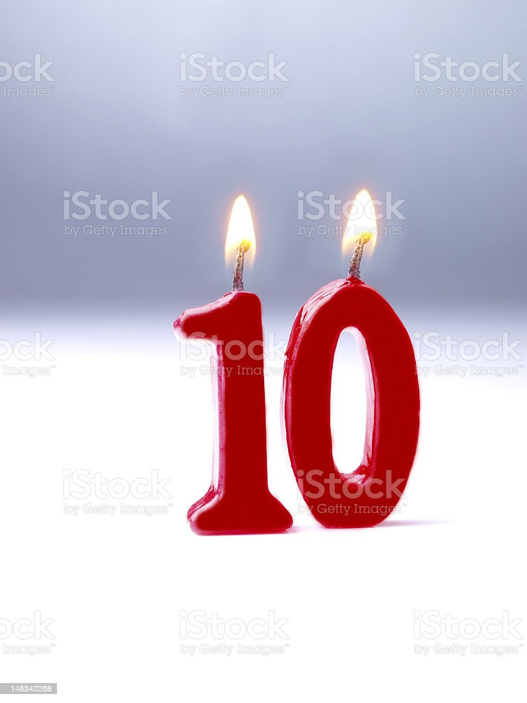Birthday-anniversary Nr. 10. stock photo