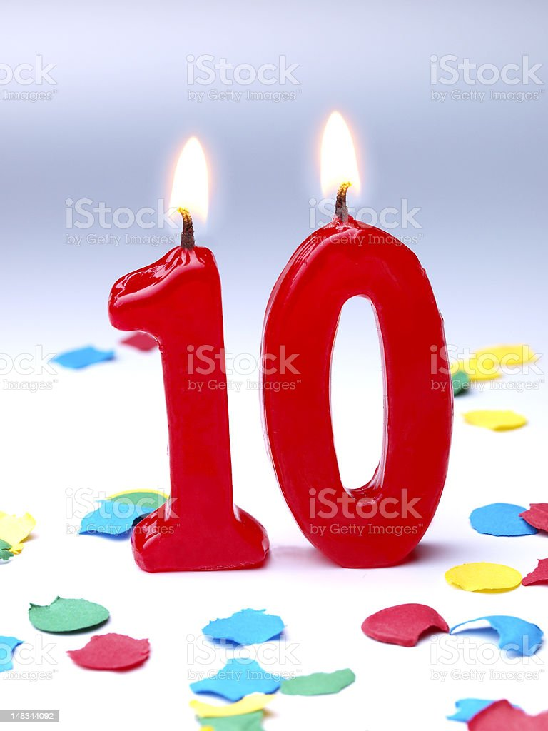 Birthday-anniversary Nr. 10 stock photo