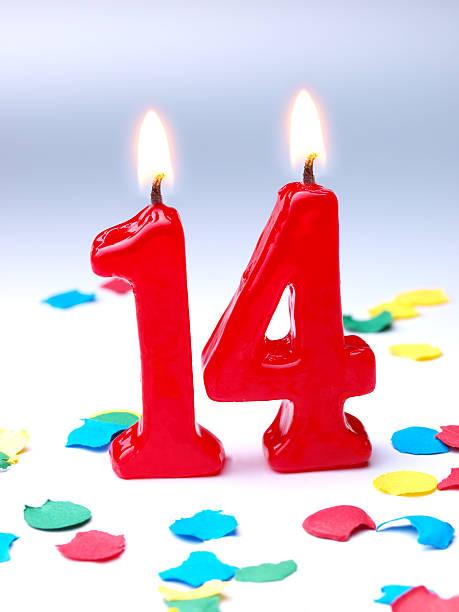 Birthday-anniversary Nr. 14 stock photo