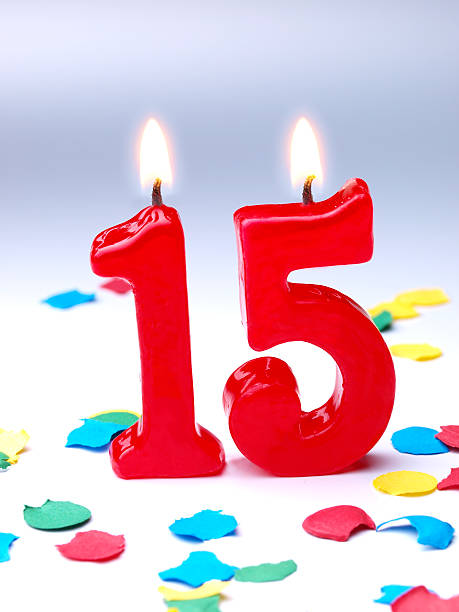 Number 15 Birthday Candle Stock Photo & More Pictures of ...  |Number 15 Picture