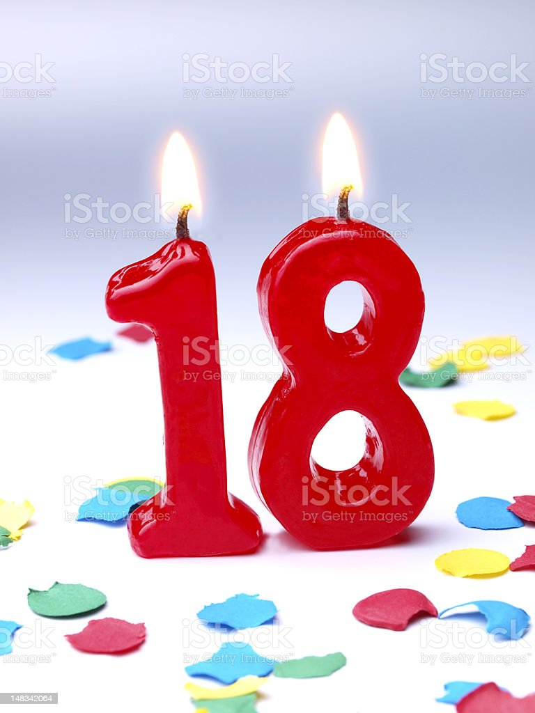 Birthday-anniversary Nr. 18 stock photo