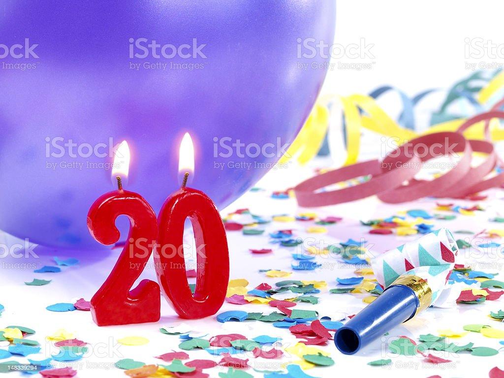 Birthday-anniversary Nr. 20. royalty-free stock photo