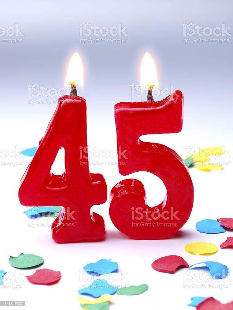 Birthday-anniversary Nr. 45 stock photo